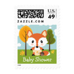 Fox in Diapers Baby Shower Stamps