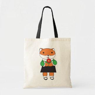 Fox in Dress Bag