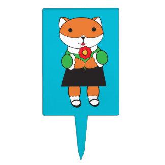 Fox in Dress Cake Pick