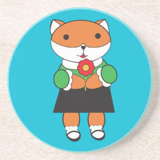 Fox in Dress Coaster