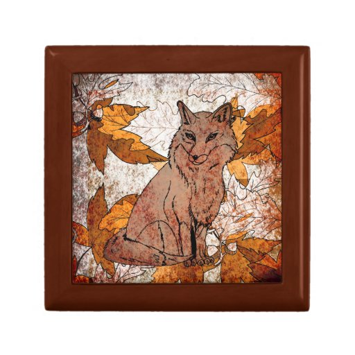 Autumn Leaf Lidded Storage Box ·  Http://rlv.zcache.com/fox_in_fall_with_autumn_leaves_keepsake_box R6d93b1e355ac4c779f91dbc02bef1b17_agl0a_8byvr_512