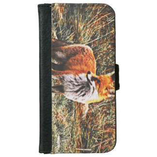 Fox In HD Wallet Phone Case For iPhone 6/6s