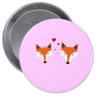 Fox in love button