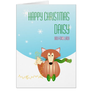 Fox in Mittens Christmas Card