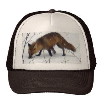 Fox in Snow Trucker Hat