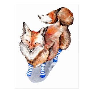 Fox in Socks Postcard