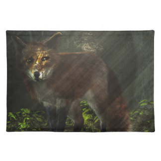 Fox in the Deep Forest Cloth Place Mat