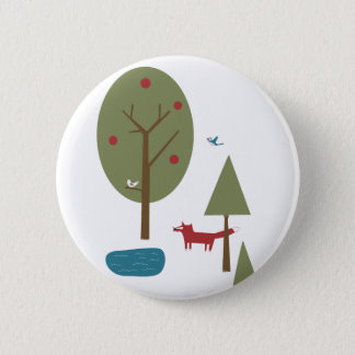 Fox in the Forest Button