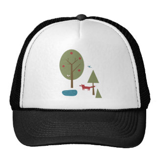 Fox in the Forest Mesh Hat