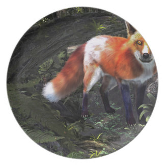 Fox in the Forest Melamine Plate