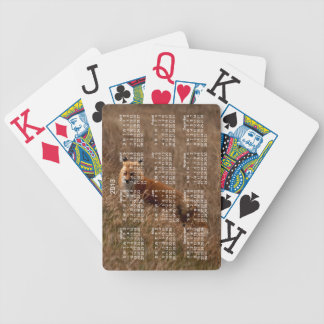 Fox in the Grass; 2013 Calendar Bicycle Card Decks