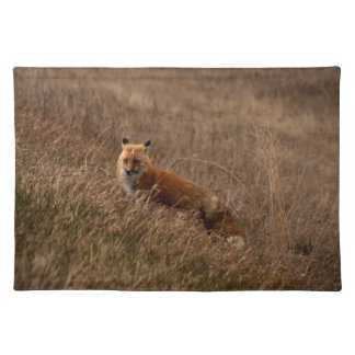 Fox in the Grass Cloth Placemat