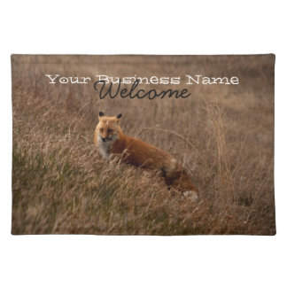 Fox in the Grass; Promotional Cloth Placemat