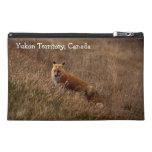 Fox in the Grass; Yukon Territory Souvenir Travel Accessory Bag