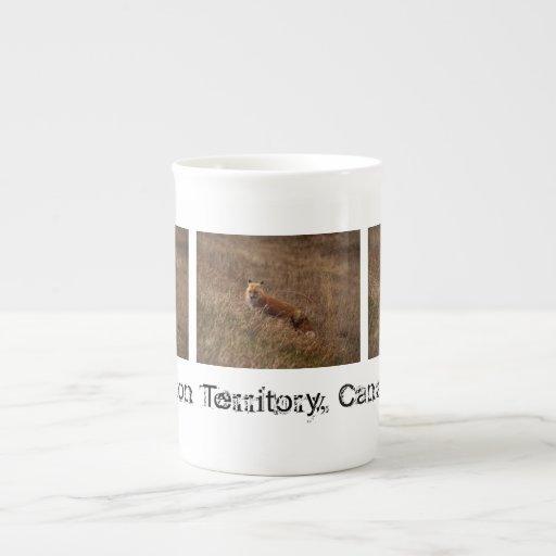 Fox in the Grass; Yukon Territory Souvenir Tea Cup