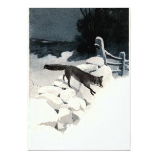 Fox in the Snow 5x7 Paper Invitation Card