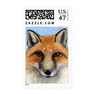 Fox in the Snow II - Medium Postage