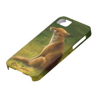 Fox in the Sun by Alex Jabore iPhone SE/5/5s Case