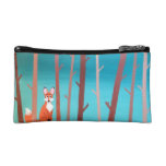 Fox in the Woods Makeup Bag