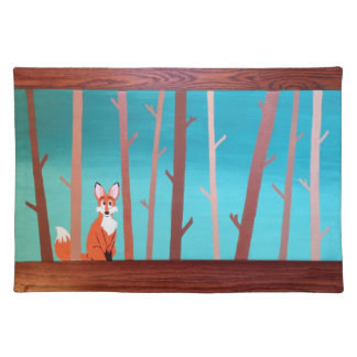 Fox in the Woods Placemat Cloth Placemat