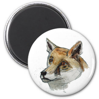 Fox in Watercolor Magnets