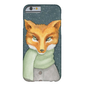 Fox in Winter Scarf Illustration Barely There iPhone 6 Case