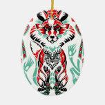 Fox indio del nativo americano costero del norte p adorno