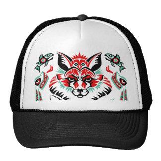 Fox indio del nativo americano costero del norte p gorros bordados
