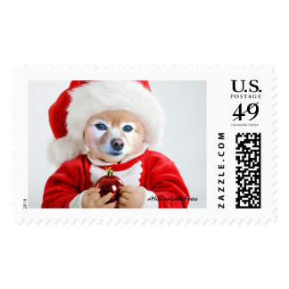 Fox Is A Baby In A Santa Hat #1 Postage