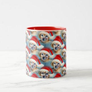 Fox Is A Baby In A Santa Hat #1 Two-Tone Coffee Mug