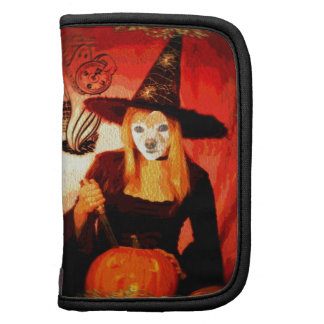 Fox Is A Halloween Witch Folio Planner