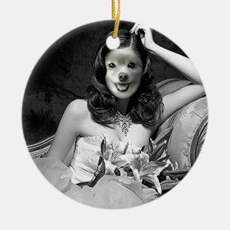 Fox Is A Lady Of Leisure Ceramic Ornament