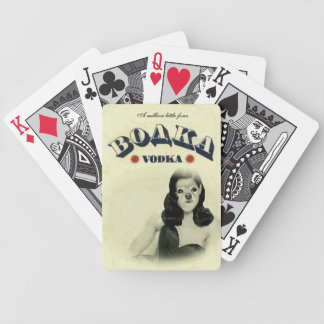 Fox Is A Pinup Vodka Label #3 Bicycle Playing Cards