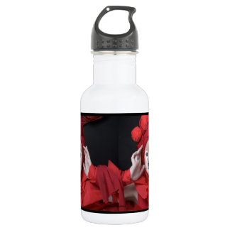Fox Is The Lady In Red 18oz Water Bottle