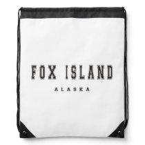 Fox Island Alaska Drawstring Backpack