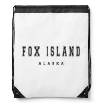Fox Island Drawstring Bag