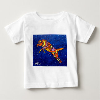Fox Jumping by Piliero Baby T-Shirt