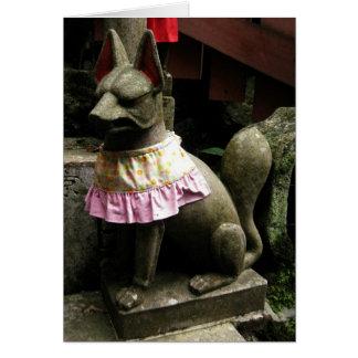 Fox-Keigo-NY de Fushimi Inari Tarjeta Pequeña
