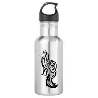 Fox Kitsune Tribal Water Bottle