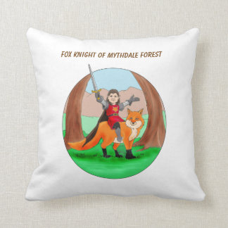 Fox Knight of Mythdale Forest Pillow
