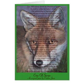 fox la fauna que pinta la tarjeta animal en blanco