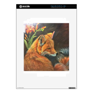 fox landscape paint painting hand art nature iPad 2 skin