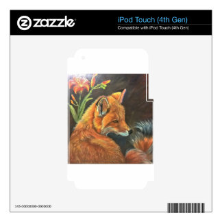 fox landscape paint painting hand art nature iPod touch 4G decals