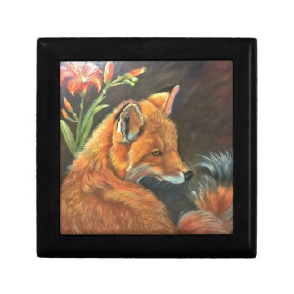 fox landscape paint painting hand art nature jewelry box