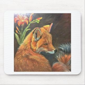 fox landscape paint painting hand art nature mouse pad