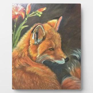 fox landscape paint painting hand art nature plaque