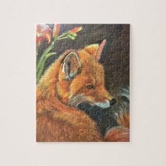 fox landscape paint painting hand art nature puzzle