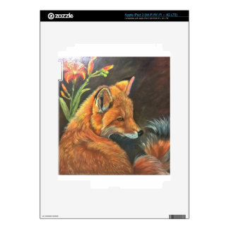 fox landscape paint painting hand art nature skin for iPad 3