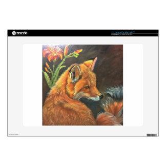 fox landscape paint painting hand art nature skin for laptop
