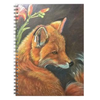 fox landscape paint painting hand art nature spiral notebook